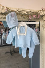 Casey knitted set blue