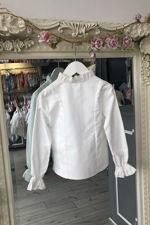 Grace cream frill cuff blouse