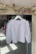 Chloe white bow blouse