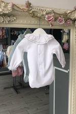 grey trim long sleeved vest