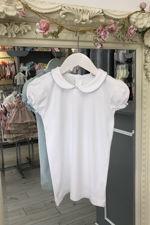 Blue trim peter pan collar t-shirt