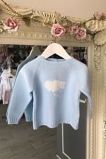 Blue cloud jumper
