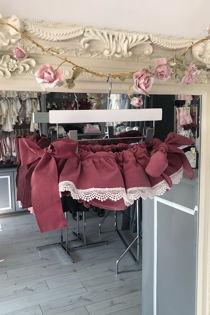 Phi dusty rose pink velvet lace jam pants