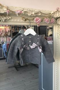Grey bow cardigan