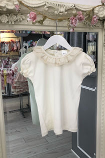 Cream short sleeve t shirt