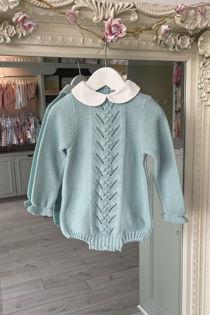 Juliana Isaac green knitted romper