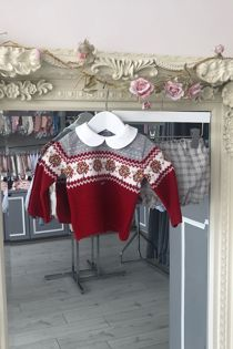 Foque boys red jumper set