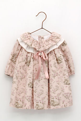 Foque dusky pink bunny dress