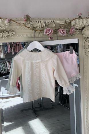 Rochy pink and cream jam pants set