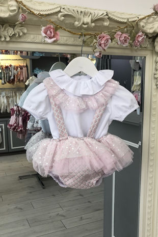 Naxos pink tulle romper