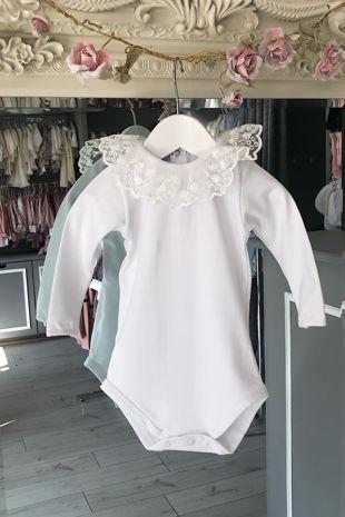 Phi white lace collar vest/t-shirt