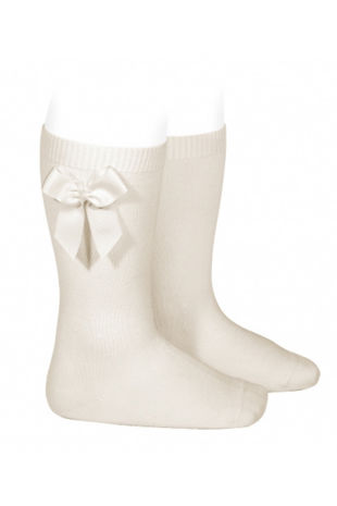 Condor lino bow knee-high socks