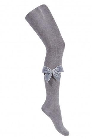 Condor grey velvet bow tights