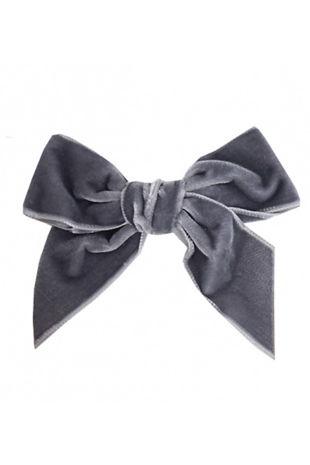 Condor grey velvet hair bow