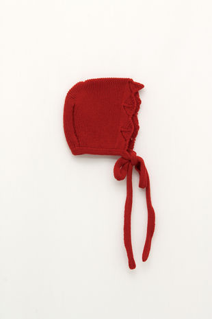 Foque red knitted bonnet