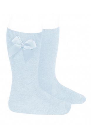 Condor baby blue bow knee-high socks