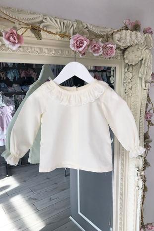 Betsy cream blouse