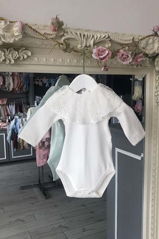 Phi cream lace long sleeve vest