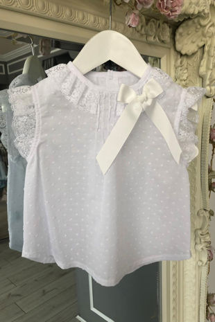 Lily white bow blouse