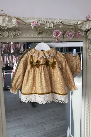 Valentina Millie mustard dress and knickers set