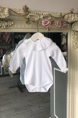 White trim long sleeved vest