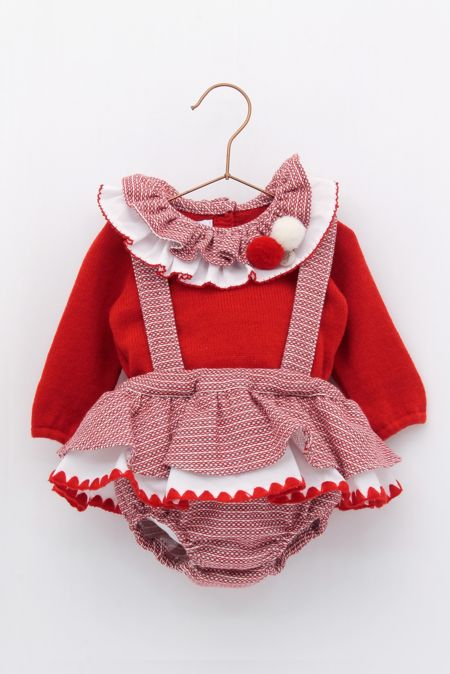 Foque red romper set