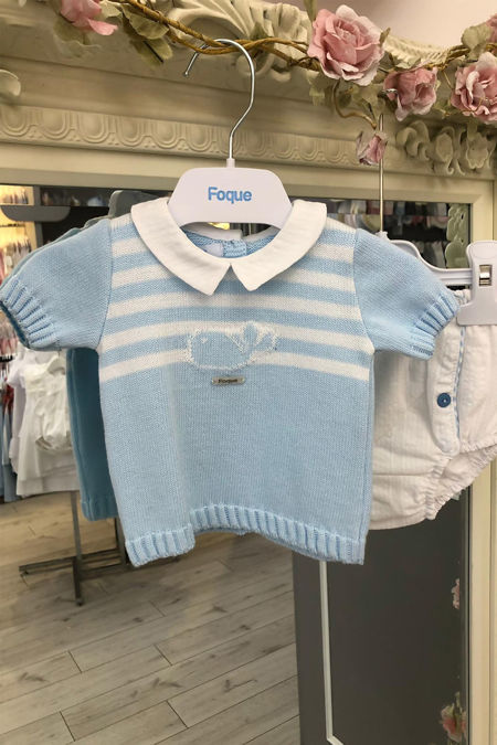 Foque blue whale knitted set