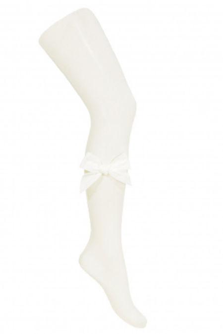 Condor cream velvet bow tights