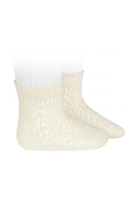 Condor cava perle openwork ankle high socks