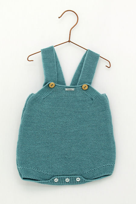 Foque turquoise blue knitted romper