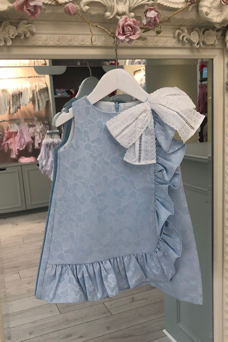 Rochy bouquet blue bow dress