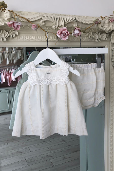 Foque cream two piece dress