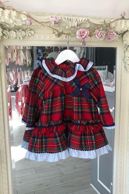 Yoedu tartan frill dress