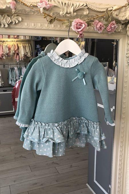 Yoedu green knitted birds dress
