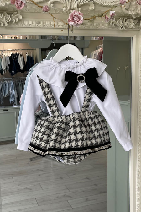 Naxos houndstooth romper and blouse set