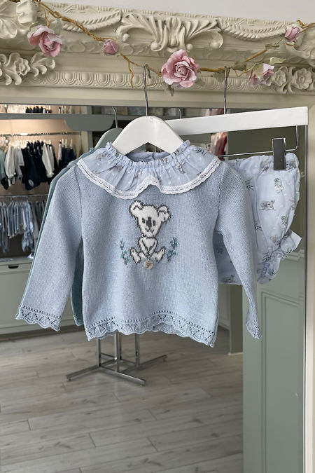 Foque blue koala knitted sweater and jam pants