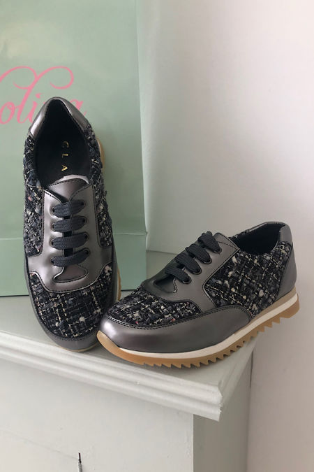 Clarys grey trainers