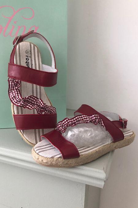 foque girls red sandal
