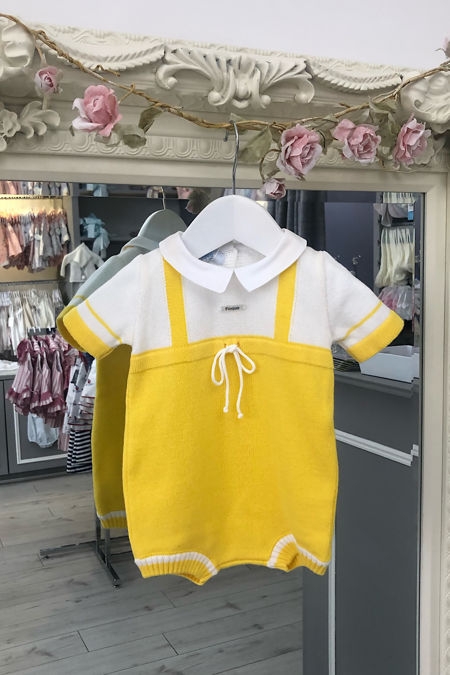 Foque yellow knitted romper