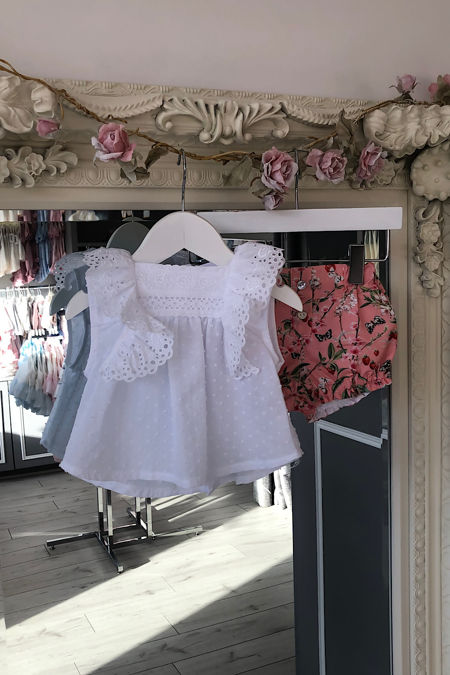 Valentina coral floral short set