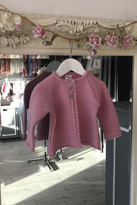 Valentina dusky pink cardigan