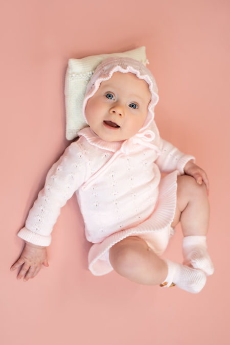 Foque pink knitted jumper and jam pants set