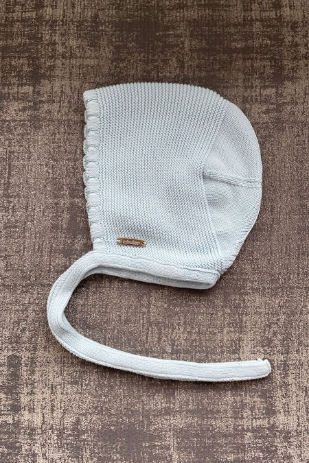 Condor baby blue knitted bonnet