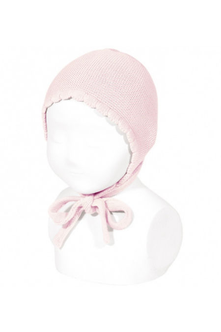 Condor baby pink knitted bonnet