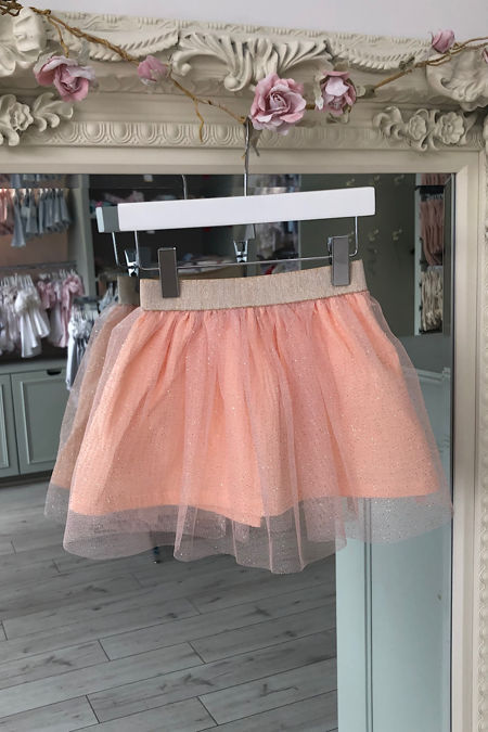 Olivia peach tulle skirt
