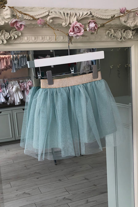 Olivia blue tulle skirt