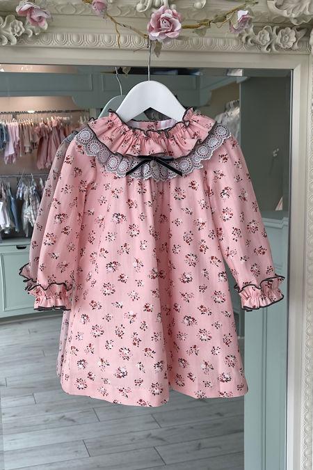 Foque pink floral dress