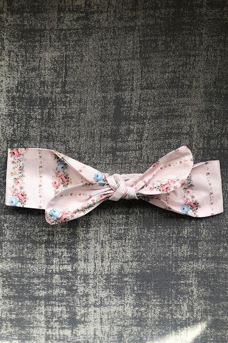 Rochy pink floral print baby hair tie