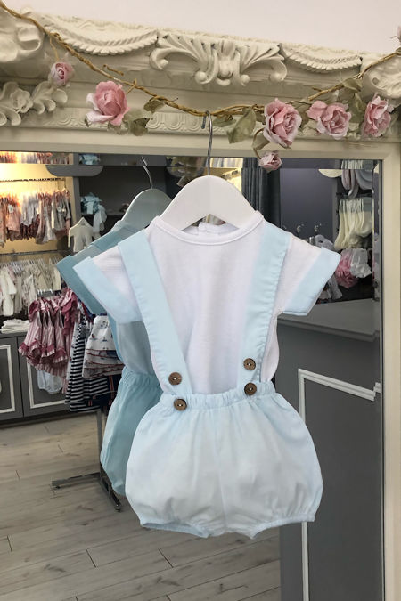 Milo blue and white short set