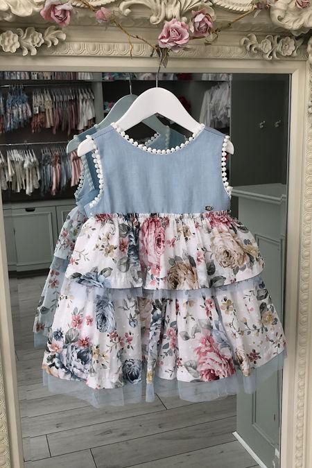 Marta Y Paula Raya floral tulle trim dress